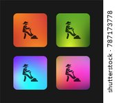 farmer four color gradient app...   Shutterstock .eps vector #787173778