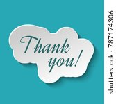 thank you signature in paper... | Shutterstock .eps vector #787174306