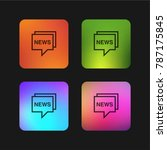 news four color gradient app... | Shutterstock .eps vector #787175845