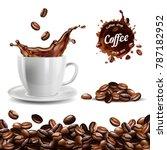 realistic vector set of... | Shutterstock .eps vector #787182952