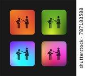 punishment four color gradient... | Shutterstock .eps vector #787183588