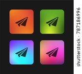 airplane four color gradient...