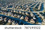 endless houses in a suburb.... | Shutterstock . vector #787195522
