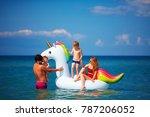 happy family enjoying summer...   Shutterstock . vector #787206052