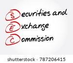 sec   securities and exchange... | Shutterstock .eps vector #787206415