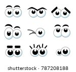cartoon eyes collection...   Shutterstock .eps vector #787208188
