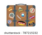 vector suitcase for travel.... | Shutterstock .eps vector #787215232