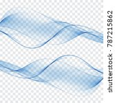 abstract background blue waves... | Shutterstock .eps vector #787215862