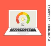 laptop with speed test on the... | Shutterstock .eps vector #787220536