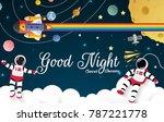 astronaut cartoon on the moon... | Shutterstock .eps vector #787221778