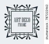 vintage retro border and frame... | Shutterstock .eps vector #787222462