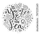 you  me   the sea. vector... | Shutterstock .eps vector #787225165