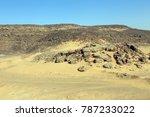 a desolate saudi desert scene | Shutterstock . vector #787233022