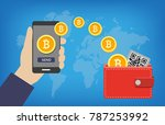 bitcoin wallet transaction  ... | Shutterstock .eps vector #787253992