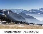 Swiss alps pano views from rigi