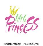 little princess modern hand... | Shutterstock .eps vector #787256398