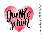 danke schoen. thank you in... | Shutterstock .eps vector #787256665