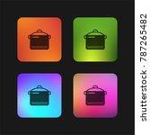 slow cooker four color gradient ...   Shutterstock .eps vector #787265482