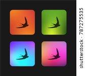swift bird shape four color...   Shutterstock .eps vector #787275535