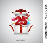 25th anniversary design with... | Shutterstock .eps vector #787277155