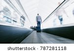 blurred business commuters... | Shutterstock . vector #787281118