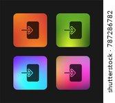 login four color gradient app...