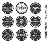 vector label quality product... | Shutterstock .eps vector #787290202