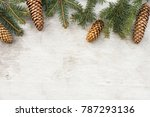 christmas decorations  pine... | Shutterstock . vector #787293136