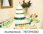 delicious sweets on wedding... | Shutterstock . vector #787294282