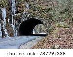 smokey mountains tunnel | Shutterstock . vector #787295338