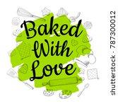 food poster print lettering.... | Shutterstock .eps vector #787300012