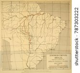 map of the roosevelt rondon... | Shutterstock . vector #787303222