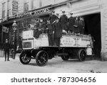 new york city firemen on their... | Shutterstock . vector #787304656