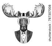 Moose  Elk Elegant Rugby Player....
