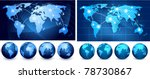 world maps and globes on a... | Shutterstock .eps vector #78730867