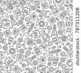 vector seamless pattern with... | Shutterstock .eps vector #787311208