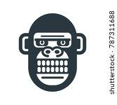 monkey icon symbol vector.... | Shutterstock .eps vector #787311688