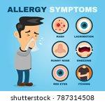 allergy symptoms problem... | Shutterstock .eps vector #787314508