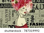 art colorful sketched beautiful ... | Shutterstock . vector #787319992