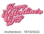 a colored script lettering...   Shutterstock .eps vector #787324222