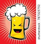 beer cartoon vector | Shutterstock .eps vector #787325752