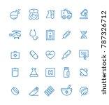 medicine and health symbols  ... | Shutterstock .eps vector #787326712