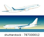 flying airliner isolated on... | Shutterstock . vector #787330012