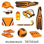 beach accessories for man | Shutterstock .eps vector #78733165