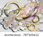 flowers. stereoscopic photo... | Shutterstock . vector #787333612