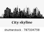 city skyline silhouette... | Shutterstock .eps vector #787334758
