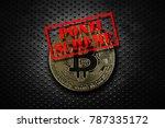 gold bitcoin with ponzi scheme... | Shutterstock . vector #787335172