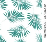 tropical palm leaves  jungle... | Shutterstock .eps vector #787336552
