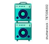 music stereo speakers isolated... | Shutterstock .eps vector #787338202