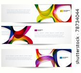 abstract banner with forms of...   Shutterstock .eps vector #78734044